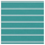 [ Thumbnail: Lavender and Teal Stripes Fabric ]