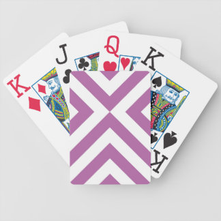 Lavender and White Chevrons Bicycle Playing Cards