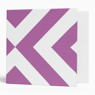 Lavender and White Chevrons 3 Ring Binder