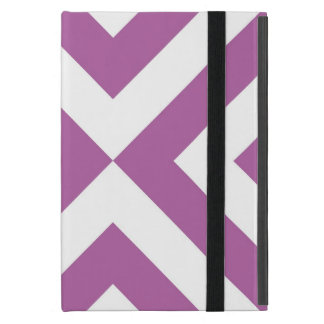 Lavender and White Chevrons Cover For iPad Mini