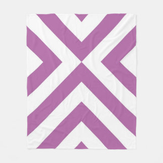 Lavender and White Chevrons Fleece Blanket