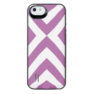 Lavender and White Chevrons Uncommon Power Gallery™ iPhone 5 Battery Case