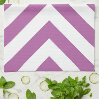 Lavender and White Chevrons Kitchen Towels