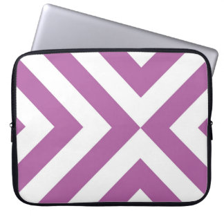 Lavender and White Chevrons Laptop Sleeve
