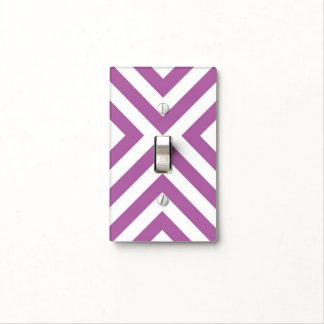 Lavender and White Chevrons Light Switch Cover