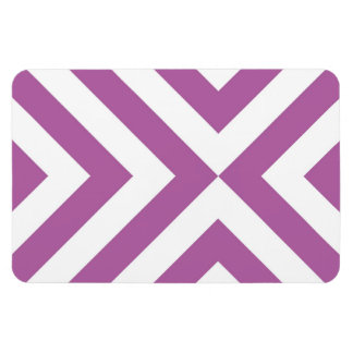 Lavender and White Chevrons Magnet