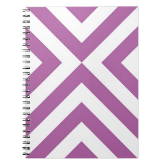 Lavender and White Chevrons Note Book