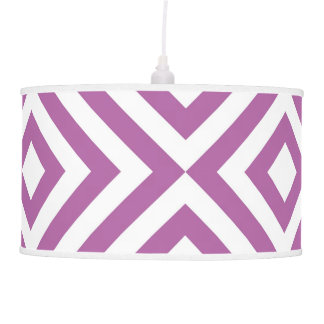 Lavender and White Chevrons Pendant Lamp