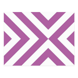 Lavender and White Chevrons Postcard