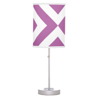 Lavender and White Chevrons Table Lamp