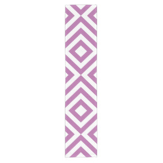 Lavender and White Chevrons Table Runner