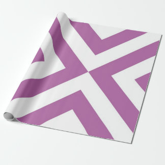 Lavender and White Chevrons Wrapping Paper