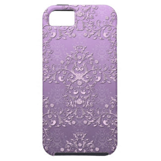 Lavender and White Damask iPhone 5 Case