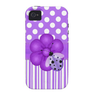 Lavender and White Girlie iPhone Case iPhone 4/4S Cover