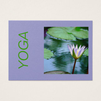 LAVENDER AND WHITE LOTUS BLOSSOM , CUSTOMIZABLE BUSINESS CARD