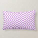 Lavender and White Meander Pillow