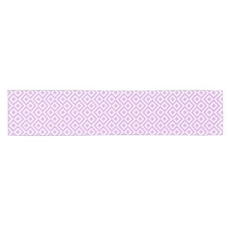 Lavender and White Meander Table Runner Short Table Runner