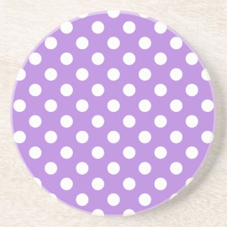 Lavender and White Polka Dots Coaster