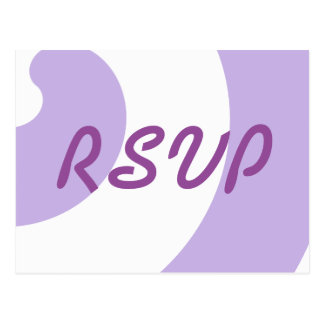 Lavender and White RSVP Card