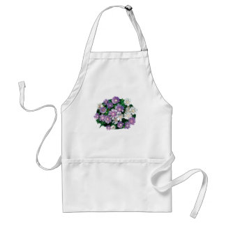 Lavender and White Stokes Asters Adult Apron