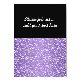Lavender and White Swirling Vines 5x7 Paper Invitation Card
