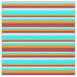 [ Thumbnail: Lavender, Aqua, Dark Orange, and Brown Colored Fabric ]