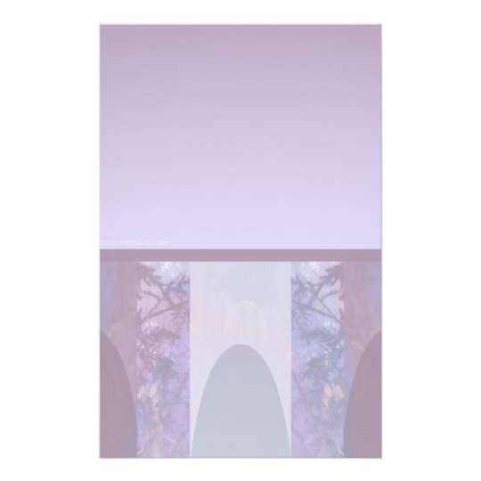 Lavender Arches Stationery