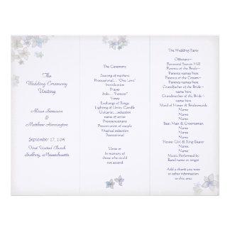 Lavender Art Tri-Fold Wedding Program Template