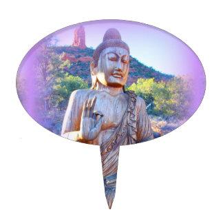 lavender aura buddha cake topper