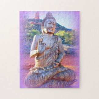 lavender aura Buddha Jigsaw Puzzles