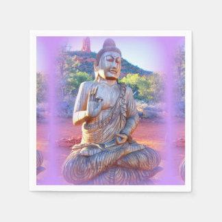 lavender aura buddha paper napkin