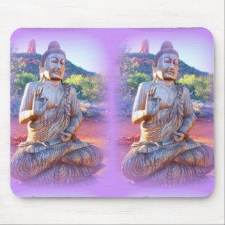 lavender aura buddhas mousepad