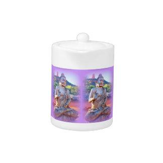 lavender aura Buddhas Teapot
