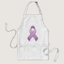 Lavender Awareness Ribbon Apron