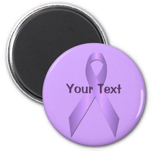 Lavender Awareness Ribbon Template Magnet