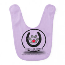 Lavender Baby Hoofbeats and Pawprints Bib
