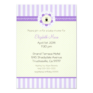 Lavender-Baby Shower 5x7 Paper Invitation Card