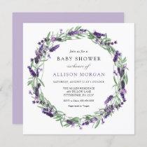 Lavender Baby Shower Invitation
