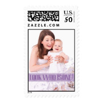 Lavender Baby's First Birthday Party Postage Stamp