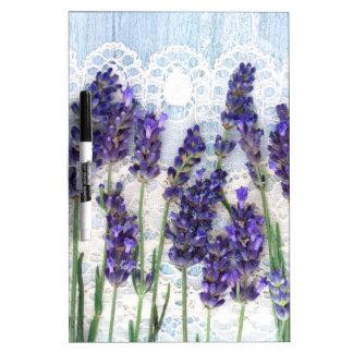 lavender background dry erase board