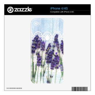 lavender background iPhone 4S skin
