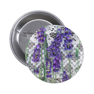 lavender background pinback button