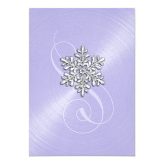 Lavender Background Snowflake with Swash Card