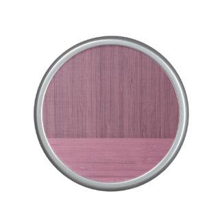 Lavender Bamboo Border Wood Grain Look Bluetooth Speaker