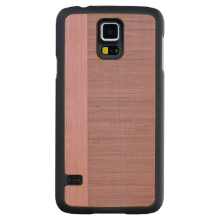 Lavender Bamboo Border Wood Grain Look Carved® Maple Galaxy S5 Slim Case