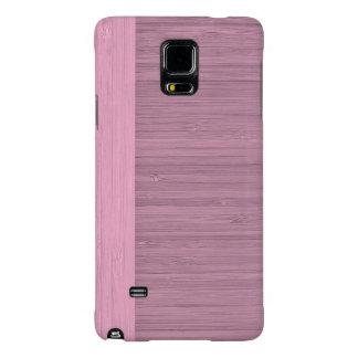 Lavender Bamboo Border Wood Grain Look Galaxy Note 4 Case