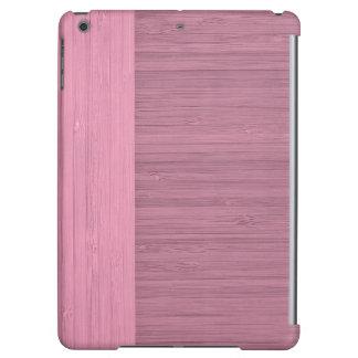 Lavender Bamboo Border Wood Grain Look iPad Air Case