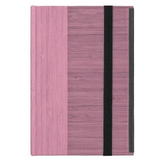 Lavender Bamboo Border Wood Grain Look iPad Mini Cover