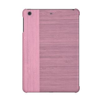 Lavender Bamboo Border Wood Grain Look iPad Mini Retina Covers