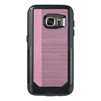 Lavender Bamboo Border Wood Grain Look OtterBox Samsung Galaxy S7 Case
